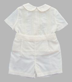 Luli and Me Silk Organza Suit 2pc Set - Toddler Boy