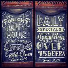 Awesome Menu Typography with Chalk