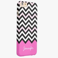 iPhone 6 Plus Cases | Elegant Girly Chic - Stylish Light Pink Chevron Barely There iPhone 6 Plus Case
