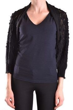 Galliano Women's Black Acrylic Cardigan.