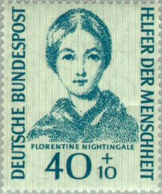 Briefmarke: Nightingale, Florence (Deutschland (BRD)) (Humanitarian Relief Fund (1955)) Mi:DE 225,Sn:DE B347,Yt:DE 101