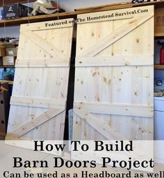 The Homestead Survival   How To Build Barn Doors Project   http://thehomesteadsurvival.com