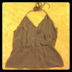 Theory halter in lavendar, silk Lovely lavender 93% silk halter top from Theory. Has some scrunching in back from me pinning it. Otherwise good condition worn rarely. Theory Tops