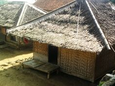 west java traditional indonesian house Vernacular Architecture, Architecture Design, Indonesian House, Traditional House, Java, Mud, Sticks, Grass, Ethnic