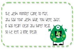 Lessons with Laughter: Desk Monster