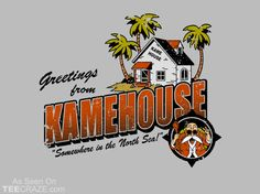 Greeting from KameHouse T-Shirt Designed by baznet