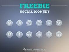 Bubble Social Icons Free PSD