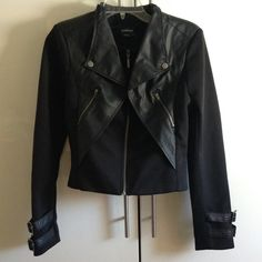 Bebe moto style jacket Never been worn. Size small. Faux leather. VERY cute!!! bebe Jackets & Coats