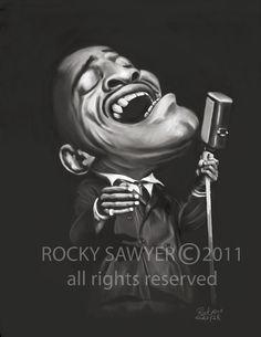 Cartoon: Sammy Davis (medium) by rocksaw