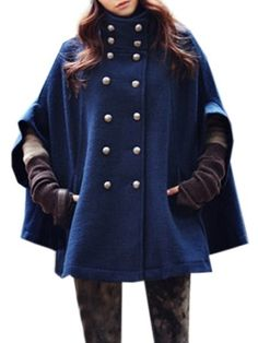 Breasted With Pockets Designed Band Collar Overcoats Only $28.95 USD More info...