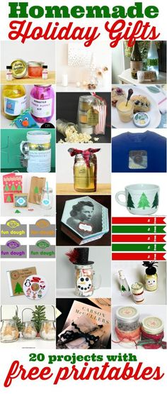 20 homemade holiday gifts for you to give this Christmas!