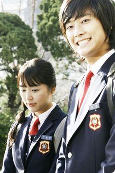 OMGOSH his smile in this picture. Korean Drama Stars, Korean Drama Movies, Korean Star, Korean Actors, Korean Dramas, Blue And White Jeans, Teen Series, Princess Hours, Yoon Eun Hye