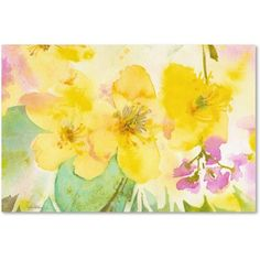 Trademark Fine Art Yellow Trio Canvas Art by Sheila Golden, Size: 16 x 24, Multicolor