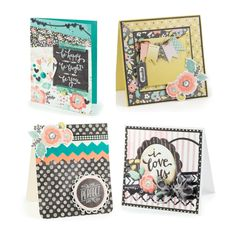 Card Inspiration using We R Memory Keepers Chalkboard inspired collection. #wermemorykeepers #cards #cardmaking