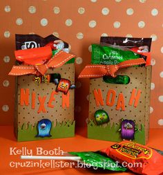 Lawn Fawn - Monster Mash, Goodie Bag Lawn Cuts die, Cole's ABCs _ super fun Goodie Bags by Kelly B via Flickr - Photo Sharing!
