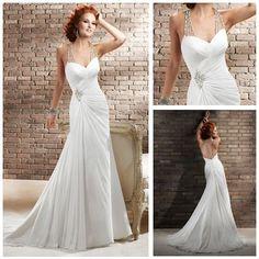 MMS365 OEM Asymmetrical Halter Sweetheart Ruffle Lace Bridal Sheer Top Wedding Dresses