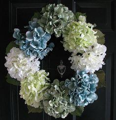 Hydrangea Wreath / Floral Hydrangea Grapevine