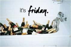 It's #Friday. Make it pop like #champagne.