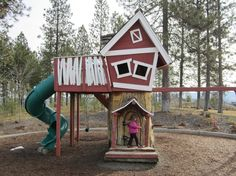 The Monkey tree house is my favorite place to play in Eagle Ridge!
