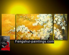 Painting | Japanese Cherry Blossom Painting Abstract Painting on Canvas