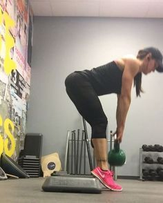 """111 Likes, 11 Comments - Denise Bardzik (@denisebardzik) on Instagram: """"Loved these!! I felt the stretch more in my hamstring. We'll call these elevated heel straight…"""""""