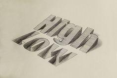 3D Lettering (by Lex Wilson)