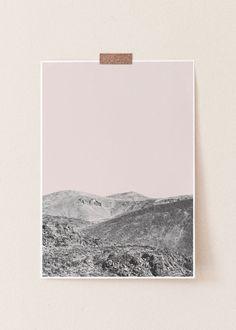 Grey Wall Art, Pink Wall Art, Pink Walls, Grey Walls, Wall Hanger, Hangers, Pastel Pink, Pink Grey, Desert Art