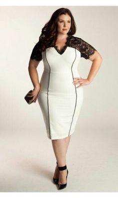 Plus size fashion dress