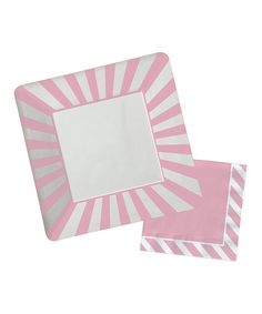 Take a look at the Pink Stripe Paper Plate & Napkin Set on #zulily today!