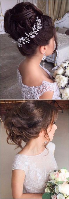 Long wedding updos and hairstyles from Elstile #weddings #weddingideas #hairstyles / http://www.deerpearlflowers.com/new-long-wedding-hairstyles-updos/ #weddinghairstyles