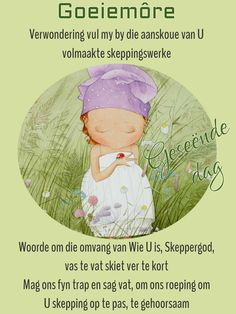 Goeie Nag, Goeie More, Good Morning Messages, Afrikaans, Cards, Good Morning Wishes, Maps, Playing Cards