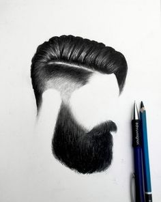 Beard style! 8| Drawn with our Mars Lumograph pencil and our graphite 779 by the…