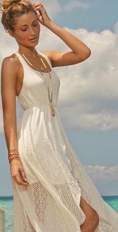 L Space 2014 Threads Swept Away Crochet Dress