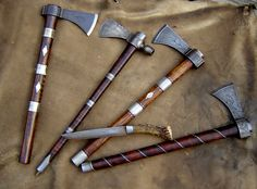 Tomahawks - these are nice. As is the little knife.