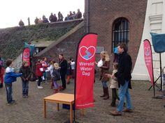 Ontwerp en uitvoering vlag Oude Rijn Schoon hoogte 2,5 m