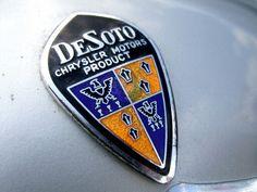 DeSoto Car Badges, Car Logos, Auto Logos, Classic Motors, Classic Cars, Logo Autos, Vintage Cars, Antique Cars, Automobile