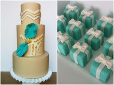 Cake & Tiffany Box petit fours from Hey There, Cupcake!