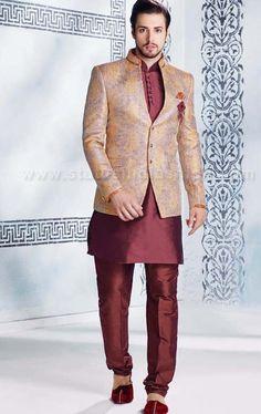 Designer Sherwani, Groom Sherwani, Indowestern sherwani, wedding sherwani www.statusindiafashion.com