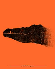 Danger-Ahead The Art of Negative Space by  Tang Yau Hoong