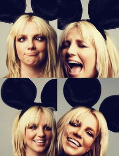 Britney Spears in Mouse Ears. <3