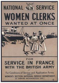 Women Clerks - Service In France