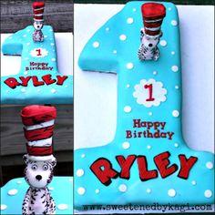 Cat in the Hat Cake Topper by SweetenedbyKagi on Etsy, $48.00