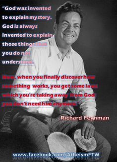 Richard Feynman. What a genius he was. Truly remarkable mind.