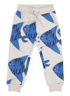 2e159ea621 Mini Rodini Fishes Sweatpant Boy Fashion, Sweat Pants, Fish Print, Final  Sale,