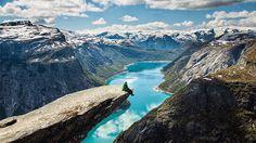 Trolltunga in Fjord, Norway