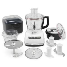 KitchenAid KFP1466WH White 14 Cup Food Processor With Commercial Style  Dicing Kit (KFP1466WH), Size Full Size