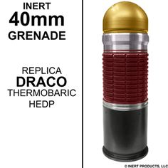 INERT PRODUCTS, LLC., Inert Explosive Training Products, EOD & IED Training Aids, Dummy Guns - Inert Replica Grenades F-1, RGD-5, RKG-3, RG-42, M-67, M228, M201A2, M34 WP, AN-M-14, M-18 Smoke, CS1 M-25A2, CS ABC M7A2, CS2, M-84 Stun,