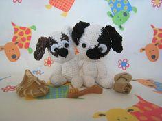 amigurumi animals of my dogs, 2007