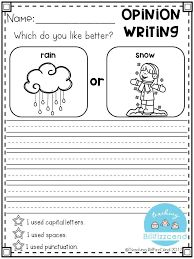 Writing Prompt: Opinion Writing for first grade. This is also great for kindergarten and second grade to build confidence in writing. Opinion Writing Prompts, Kindergarten Writing Prompts, First Grade Writing, Persuasive Writing, Writing Lessons, Writing Workshop, Teaching Writing, Writing Activities, Writing Skills