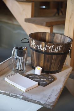 Unique guest book idea for wedding. Bucket list for bride and groom. Wedding photography by @2girls20cameras